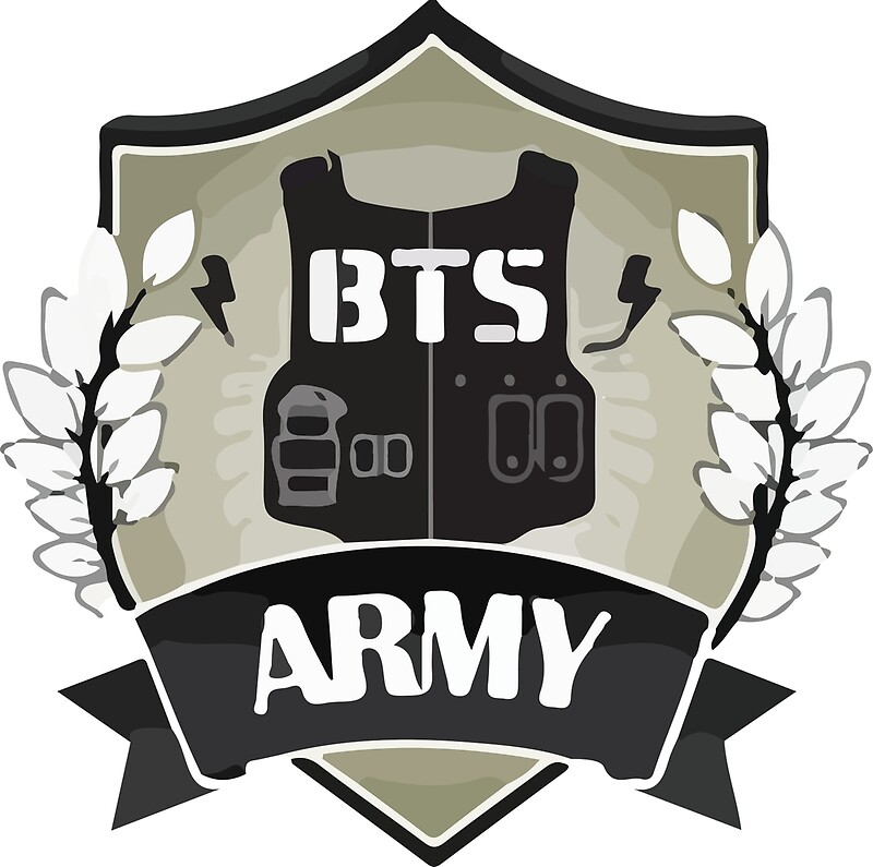 quotbts army logoquot art prints by breezefrozen redbubble