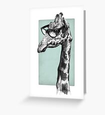 Short-Sighted Giraffe Greeting Card