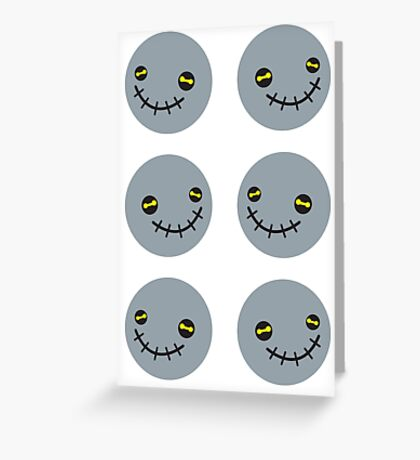 Zombie Voodoo smiling stickers Greeting Card