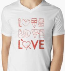 LOVE, we've all been there Men's V-Neck T-Shirt