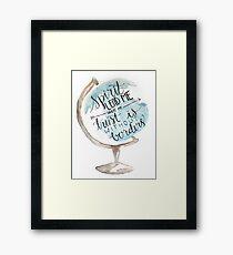 Christian quote, Hillsong, Globe Framed Print
