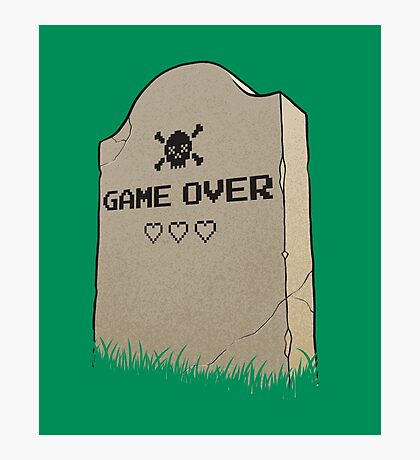 Game Over, man! Photographic Print