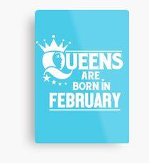February Born Metal Print