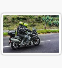 Motorcycles Riders at Avenue Sticker