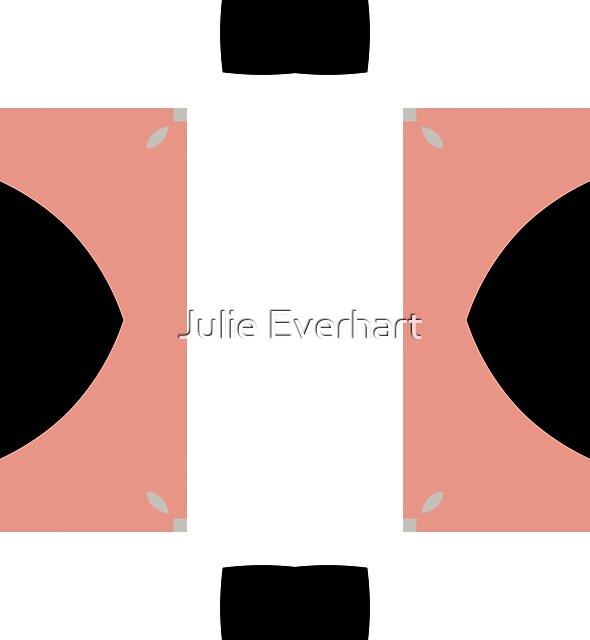 Mauve and Black 2 by Julie Evehart by Julie Everhart