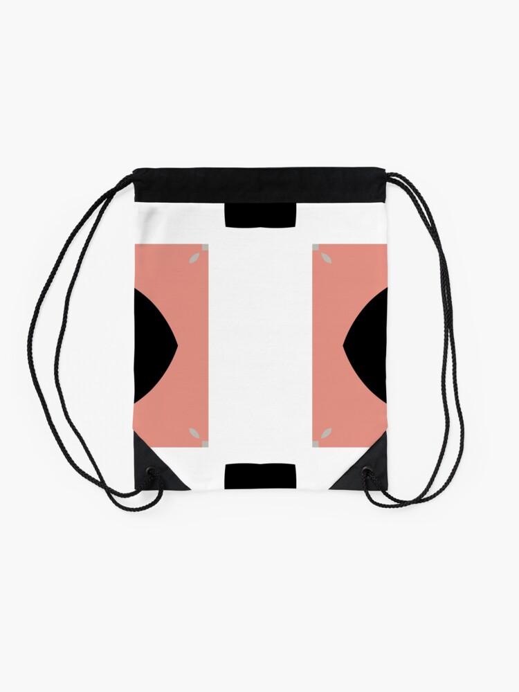 Alternate view of Mauve and Black 2 by Julie Evehart Drawstring Bag