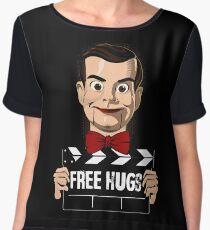 slappy free hugs Chiffon Top