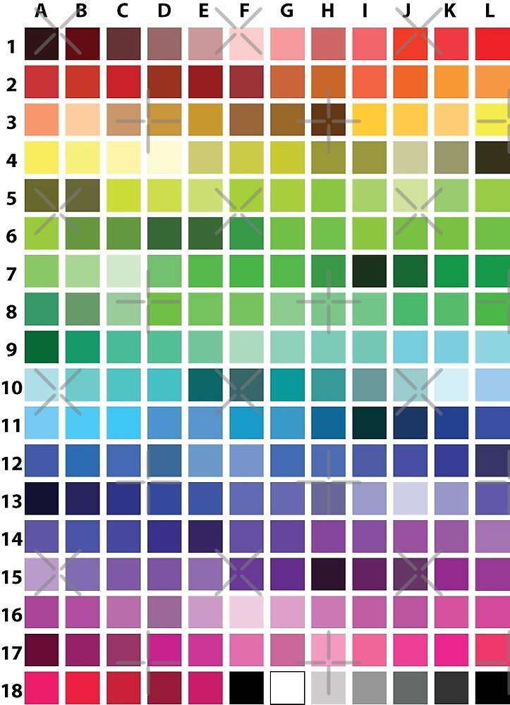 Web Color Chart by anne m bray