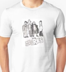 Clerks Animated Series - Cartoon TV Show - Pencil Drawing Unisex T-Shirt
