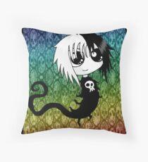 Eleanor Gloomy Style Throw Pillow