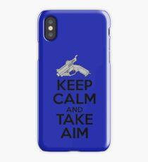 Dreamcast Keep Calm and Take Aim iPhone Case/Skin