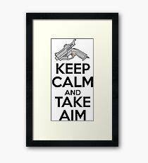 Dreamcast Keep Calm and Take Aim Framed Print