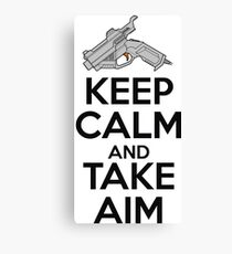 Dreamcast Keep Calm and Take Aim Canvas Print