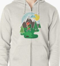 Hipster Travel Zipped Hoodie