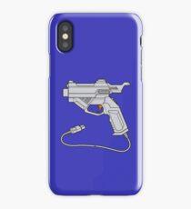 Dreamcast Light Gun (On Blue) iPhone Case/Skin