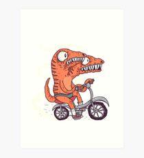 Jurassic Bike Art Print