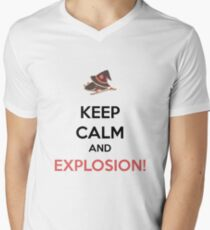 Megumin - Explosion! Men's V-Neck T-Shirt