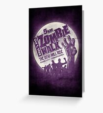Zombie Walk - White Greeting Card