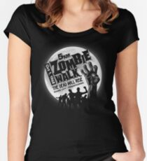 Zombie Walk - White Women's Fitted Scoop T-Shirt