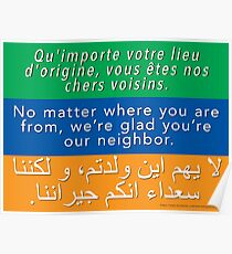 We're glad you're our neighbor Poster