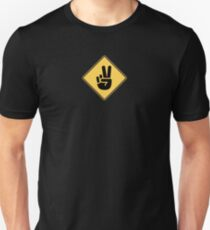 Peace Sign Slim Fit T-Shirt