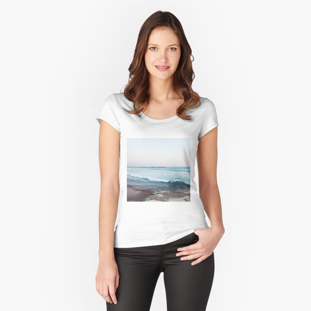 Calm ocean waves Fitted Scoop T-Shirt