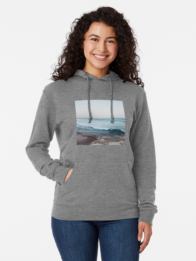 Alternate view of Calm ocean waves Lightweight Hoodie