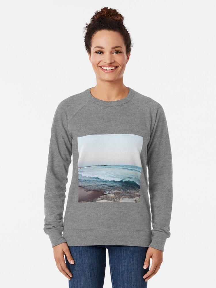Alternative Ansicht von Ruhige Meereswellen Leichter Pullover