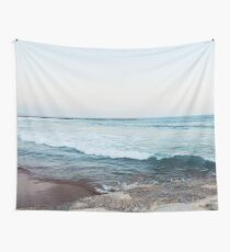 Calm morning ocean waves Wall Tapestry