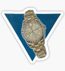 Gold Watch Drawing Sticker