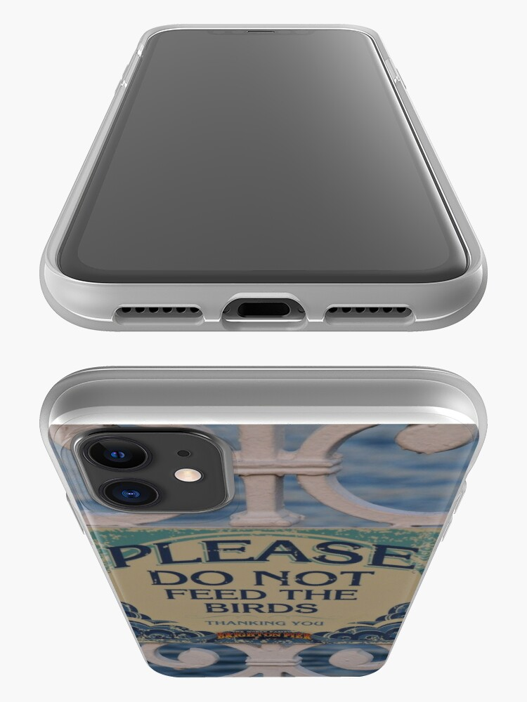 Alternate view of Please don't feed the birds iPhone Case & Cover