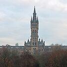 University of Glasgow at Sunrise - Panorama by Maria Gaellman