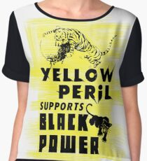 Yellow Peril Supports Black Power Chiffon Top