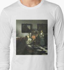 Stolen Art - The Concert by Johannes Vermeer Long Sleeve T-Shirt