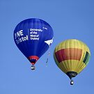 Hot Air Balloons flying over Wiltshire, United Kingdom. by Andrew Harker