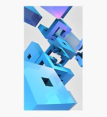 Flying Blocks Photographic Print