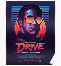 Drive Movie Vaporwave Poster