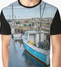 Coral Sea - Fox Point Wharf Graphic T-Shirt