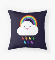 Rainbow Rain Cloud Throw Pillow