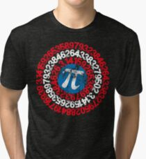 Captain Pi Funny Pi Day 2017 Superhero Style for Math Geeks and Nerds Tri-blend T-Shirt