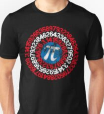 Captain Pi Funny Pi Day Superhero Style for Math Geeks and Nerds Unisex T-Shirt