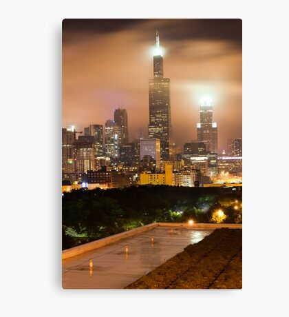 Chicago Skyline from the Rooftop Canvas Print