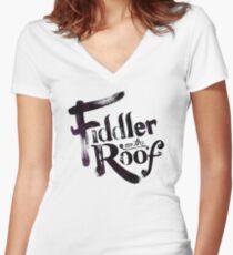 fiddler on the roof  Women's Fitted V-Neck T-Shirt