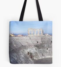 Winter inside L'Arena, Verona, Italy Tote Bag