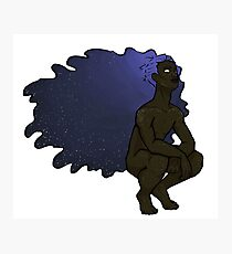 Etheral Space Hair Boy Photographic Print