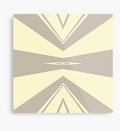 Gray and Cream V Shaped by Julie Everhart Metal Print
