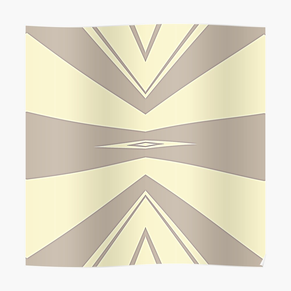Gray and Cream V Shaped by Julie Everhart Poster