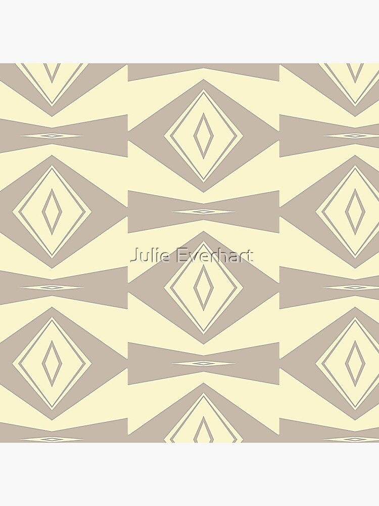 Gray and Cream V Shaped by Julie Everhart by julev69
