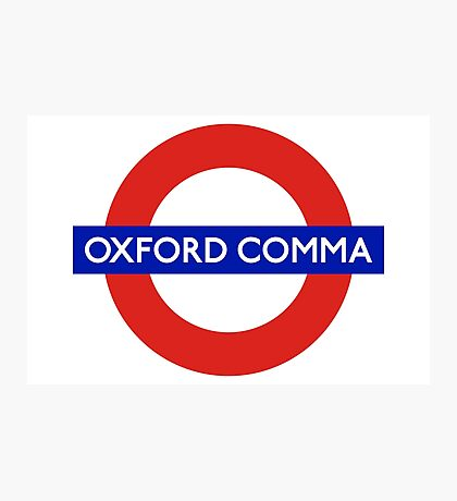 Oxford Comma Photographic Print