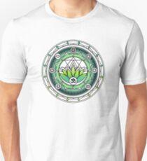 Yoga sport lotus flower mandala art  T-Shirt